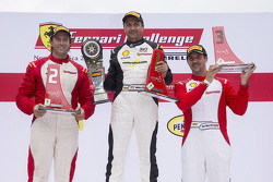 Trofeo Pirelli Am podium: winner #8 Ferrari of Ft. Lauderdale Ferrari 459