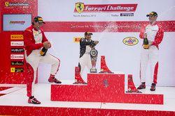 Trofeo Pirelli Am podium: winner #8 Ferrari of Ft. Lauderdale Ferrari 458