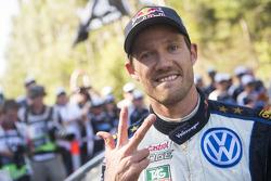 Le vainqueur et champion du monde 2015 Sébastien Ogier, Volkswagen Motorsport