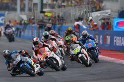 Scott Redding, Marc VDS Racing Honda, Yonny Hernandez, Pramac Racing Ducati en Cal Crutchlow, Team L