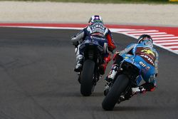 Jorge Lorenzo, Yamaha Factory Racing, et Scott Redding, Marc VDS Racing Honda