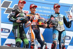 Podium: second place Bradley Smith, Tech 3 Yamaha and winner Marc Marquez, Repsol Honda Team and thi