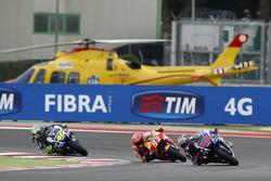 Jorge Lorenzo, Yamaha Factory Racing e Marc Marquez, Repsol Honda Team e Valentino Rossi, Yamaha Fac