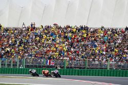 Jorge Lorenzo, Yamaha Factory Racing and Marc Marquez, Repsol Honda Team and Valentino Rossi, Yamaha