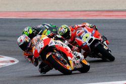 Dani Pedrosa, Repsol Honda Team; Andrea Iannone, Ducati Team, und Pol Espargaro, Tech 3 Yamaha