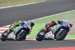 Jorge Lorenzo et Valentino Rossi, Yamaha Factory Racing