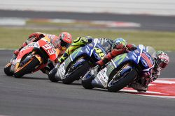 Jorge Lorenzo, Valentino Rossi, Yamaha Factory Racing e Marc Marquez, Repsol Honda Team