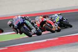 Jorge Lorenzo, Yamaha Factory Racing, Marc Marquez, Repsol Honda Team en Valentino Rossi, Yamaha Fac