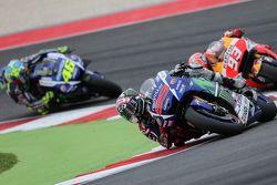 Jorge Lorenzo, Yamaha Factory Racing and Marc Marquez, Repsol Honda Team and Valentino Rossi, Yamaha Factory Racing