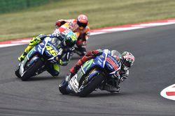 Jorge Lorenzo, Valentino Rossi, Yamaha Factory Racing et Marc Marquez, Repsol Honda Team