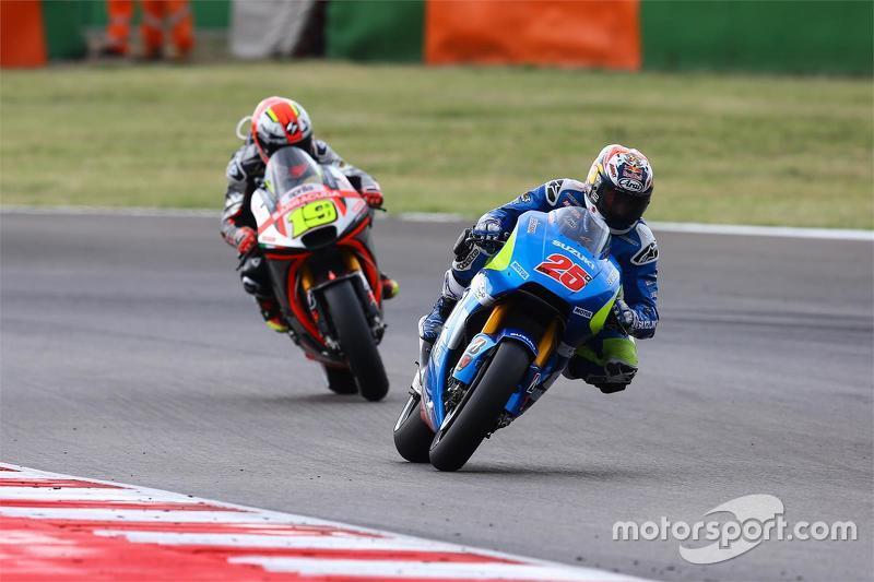 Maverick Viñales, Team Suzuki MotoGP, und Alvaro Bautista, Aprilia Racing Team Gresini