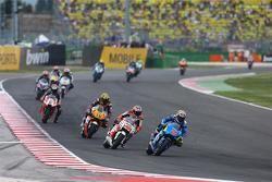 Maverick Viñales, Team Suzuki MotoGP y Jack Miller, Team LCR Honda y Loris Baz, Forward Racing Yamaha