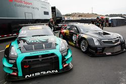 #33 Always Evolving Racing Nissan GT-R-GT3 and #3 Cadillac Racing Cadillac ATS-VR GT3