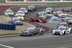 El inicio: Miguel Molina, Audi Sport Team Abt Audi RS 5 DTM spins