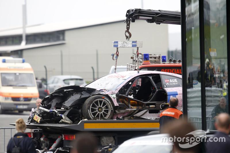 Das Auto von Lucas Auer, ART Grand Prix, Mercedes-AMG C63 DTM, nach dem Unfall