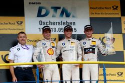 Podium: Bart Mampaey, BMW Team RBM, 2nd Augusto Farfus, BMW Team RBM BMW M34 DTM, 1st Tom Blomqvist,