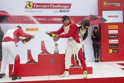 Trofeo Pirelli podium: winner Emmanuel Anassis, second place John Farano, third place Wei Xu