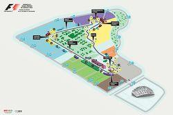 Kaart Circuito Autódromo Hermanos Rodríguez voor de GP van México