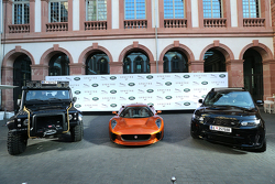 A general view during the presentation of the Jaguar Land Rover vehicles starring in the new Bond fi