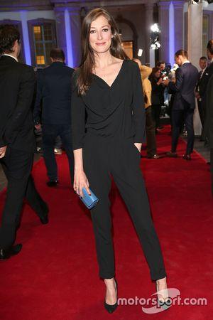 Alexandra Maria Lara durante la presentazione dei veicoli Jaguar Land Rover apparsi nel nuovo film d