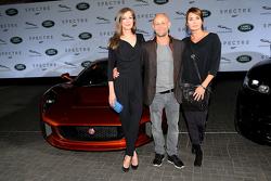 Alexandra Maria Lara, Juergen Vogel and Anja Kling during the presentation of the Jaguar Land Rover