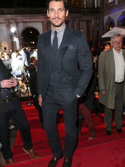 David Gandy during the presentation of the Jaguar Land Rover vehicles starring in the new Bond film