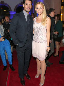 David Gandy and Sonya Kraus during the presentation of the Jaguar Land Rover vehicles starring in th