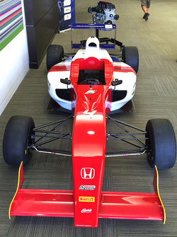 La monoplace du championnat de F4 Etats-Unis