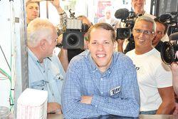 Brad Keselowski, Team Penske Ford visiita la stampa a Chicago
