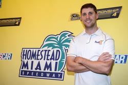 Denny Hamlin, Joe Gibbs Racing Toyota pasa tiempo en el Homestead Miami Speedway