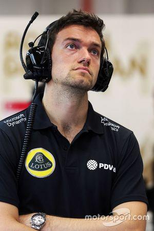 Jolyon Palmer, tester e pilota di riserva del Lotus F1 Team