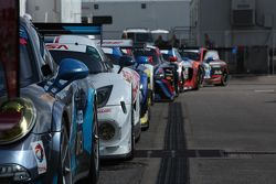 Cars in the paddock