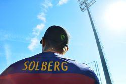 Petter Solberg, SDRX Citroën DS3 RX avec un maillot du FC Barcelone