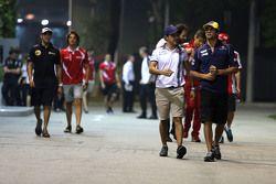 Felipe Massa, Williams F1 Team e Felipe Nasr, Sauber F1 Team