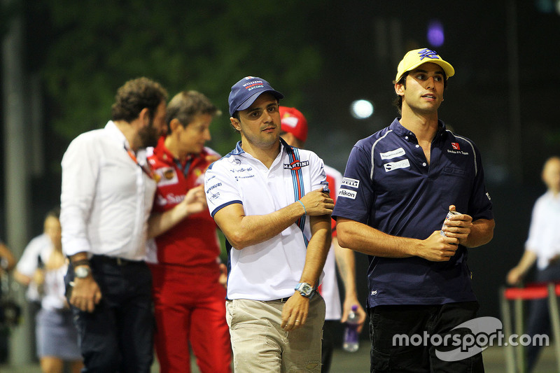 Felipe Massa, Williams, mit Felipe Nasr, Sauber F1 Team