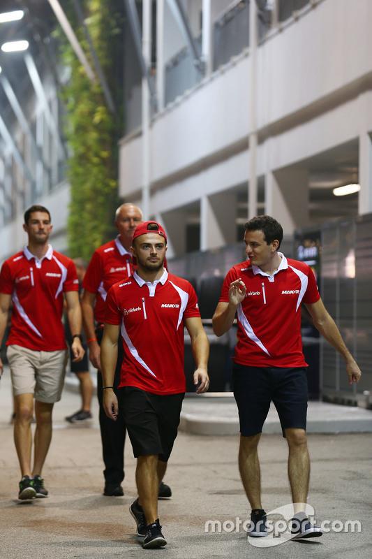 Will Stevens, Manor Marussia F1 Team with Fabio Leimer, Manor Marussia F1 Team Test and Reserve Driv