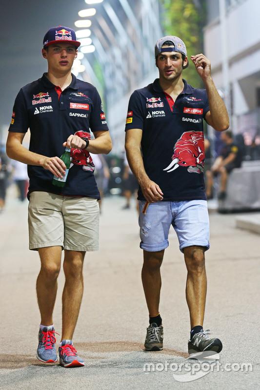 Max Verstappen, Scuderia Toro Rosso ile Carlos Sainz Jr, Scuderia Toro Rosso