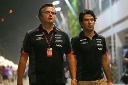 Andy Stevenson, Team Manager Sahara Force India F1 Team avec Sergio Perez, Sahara Force India F1