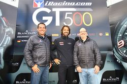 Stéphane Ratel, president of SRO with iRacing.com officials