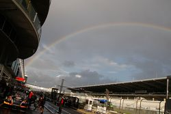 A rainbow over the Nürburgring circuit