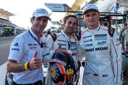Ganadores de la pole Romain Dumas, Neel Jani, Marc Lieb