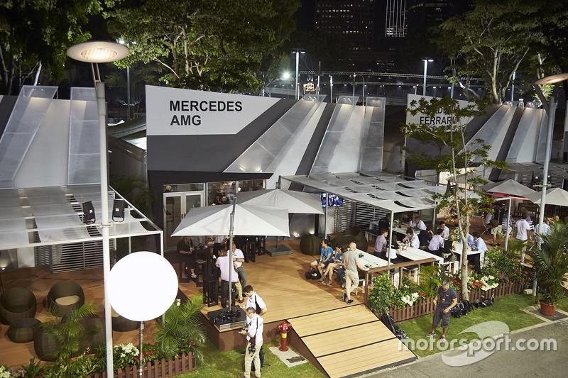 Mercedes AMG F1 місце гостинності