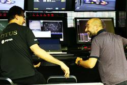 Federico Gastaldi, Vice-Team Principal Lotus F1 Team avec Gerard Lopez, Team Principal Lotus F1 Team