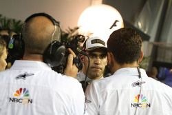 Pastor Maldonado, Lotus F1 Team with Will Buxton, NBC Sports Network TV Presenter