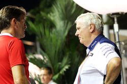 Graeme Lowdon, Manor Marussia F1 Team Chief Executive Officer with Pat Symonds, Williams Chief Technical Officer