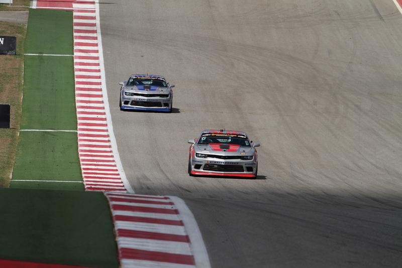 #6 Stevenson Motorsports Chevrolet Comaro Z/28.R: Andrew Davis, Robin Liddell and #9 Stevenson Motor