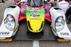 Justin Wilson tribute paint scheme on #60 Michael Shank Racing with Curb/Agajanian Ligier JS P2 Hond