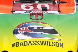 Hommage an Justin Wilson bei #60 Michael Shank Racing with Curb/Agajanian Ligier JS P2 Honda: John P