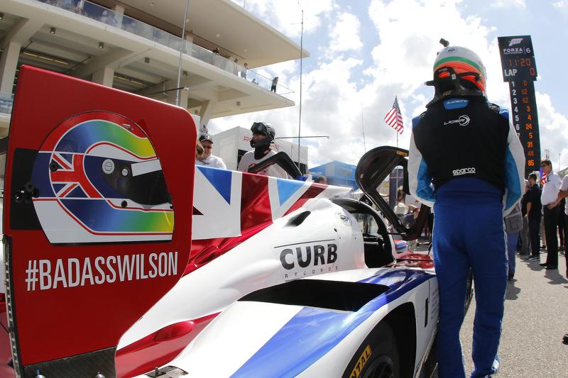 В память о Джастине Уилсоне, Ligier JS P2 Honda команды Michael Shank Racing with Curb/Agajanian: Дж