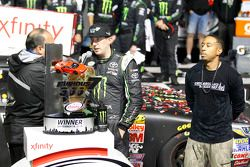 Winner Kyle Busch, Joe Gibbs Racing Toyota and rapper Ludacris